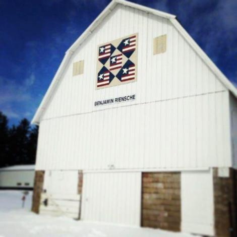 The Riensche home farm barn quilt.