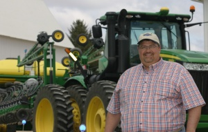 Benjamin Riensche on his farm in Jubilee, Iowa.