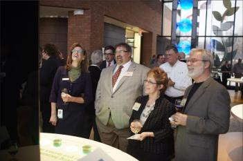 Ben at the opening of the new Monsanto Chesterfield, MO learning center. Soil from BDFC is featured in the exhibit!