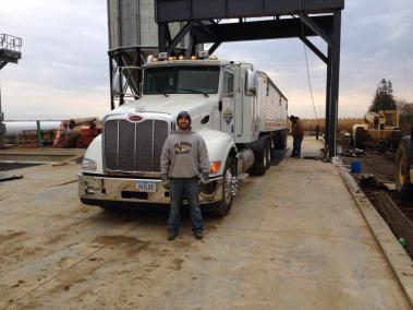 First load in the new grain facility!