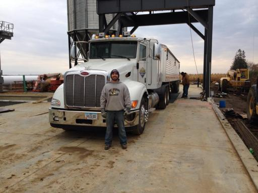 Loading grain at the new facility for the first time!