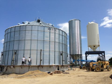 New bins at the new grain leg.