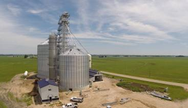 An aerial of the new grain leg taken by the drone!