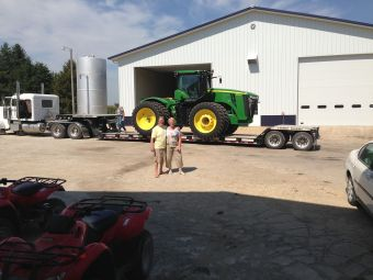 Welcoming in a new tractor!
