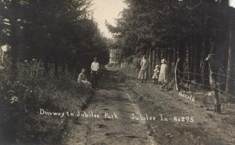 Driveway to Jubilee Park, Jubilee, IA.